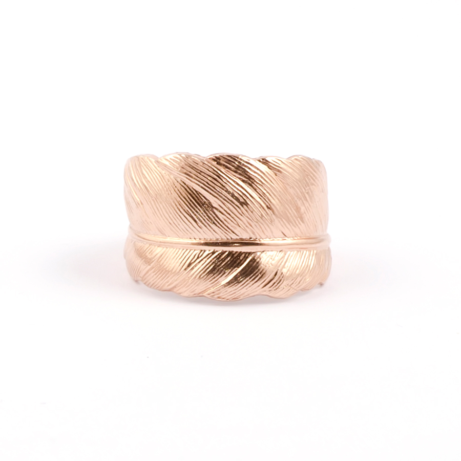 Rose gold feather ring