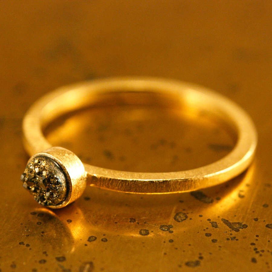 gold_speckle_stacking_ring