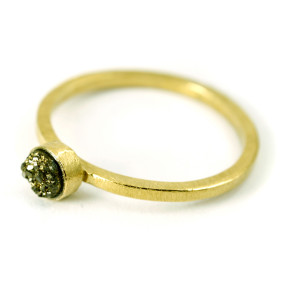gold stacking stardust ring