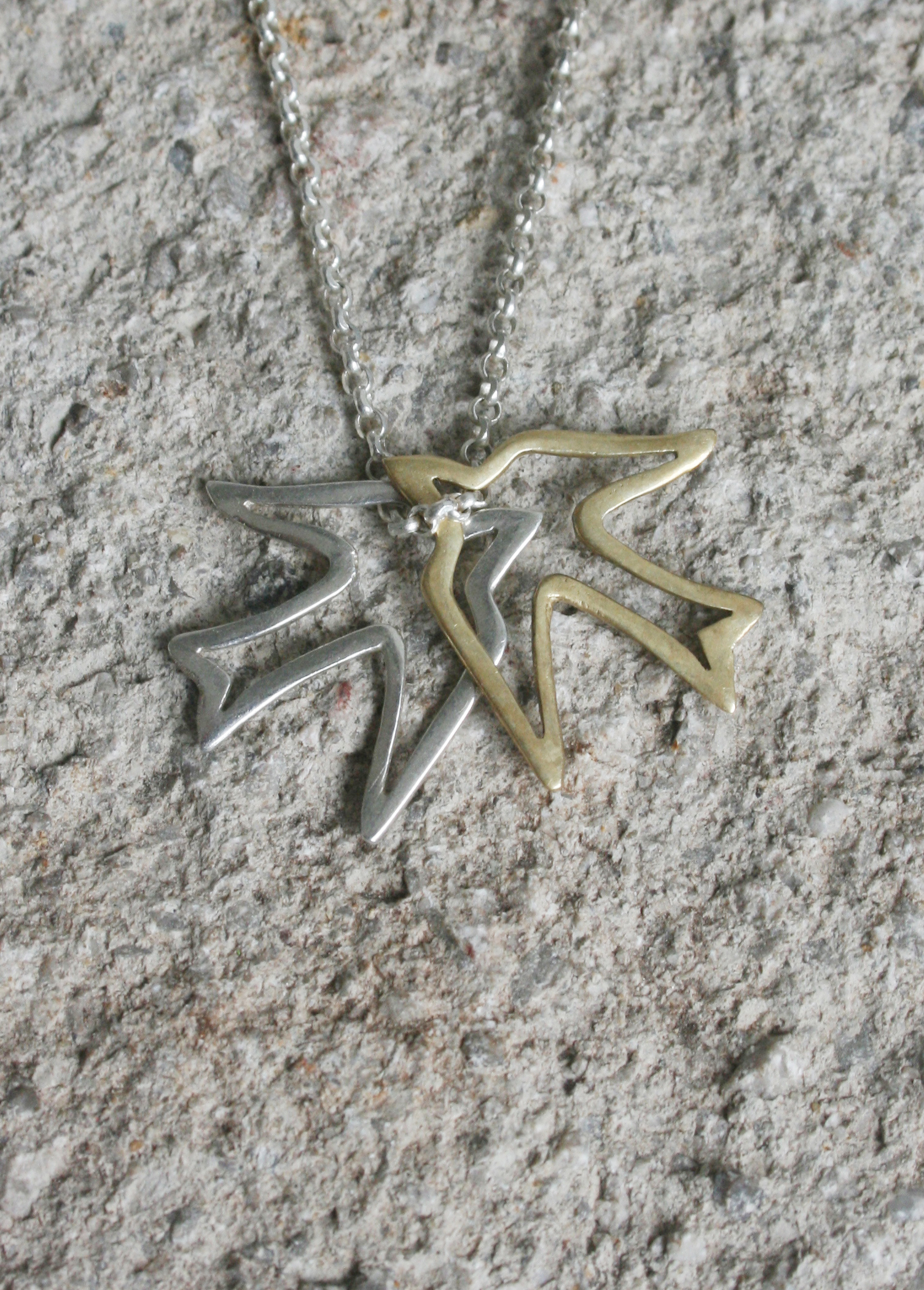 silver_brass_swallow_necklace