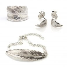 silver_feather_jewellery_set