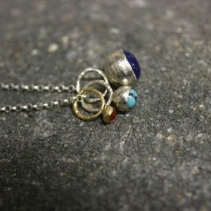gold_silver_3_gemstone_cluster_necklace