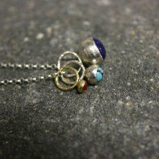 gold_silver_3_gemstone_cluster_necklace