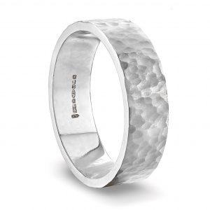 white_gold_hammered_wedding_ring_6mm