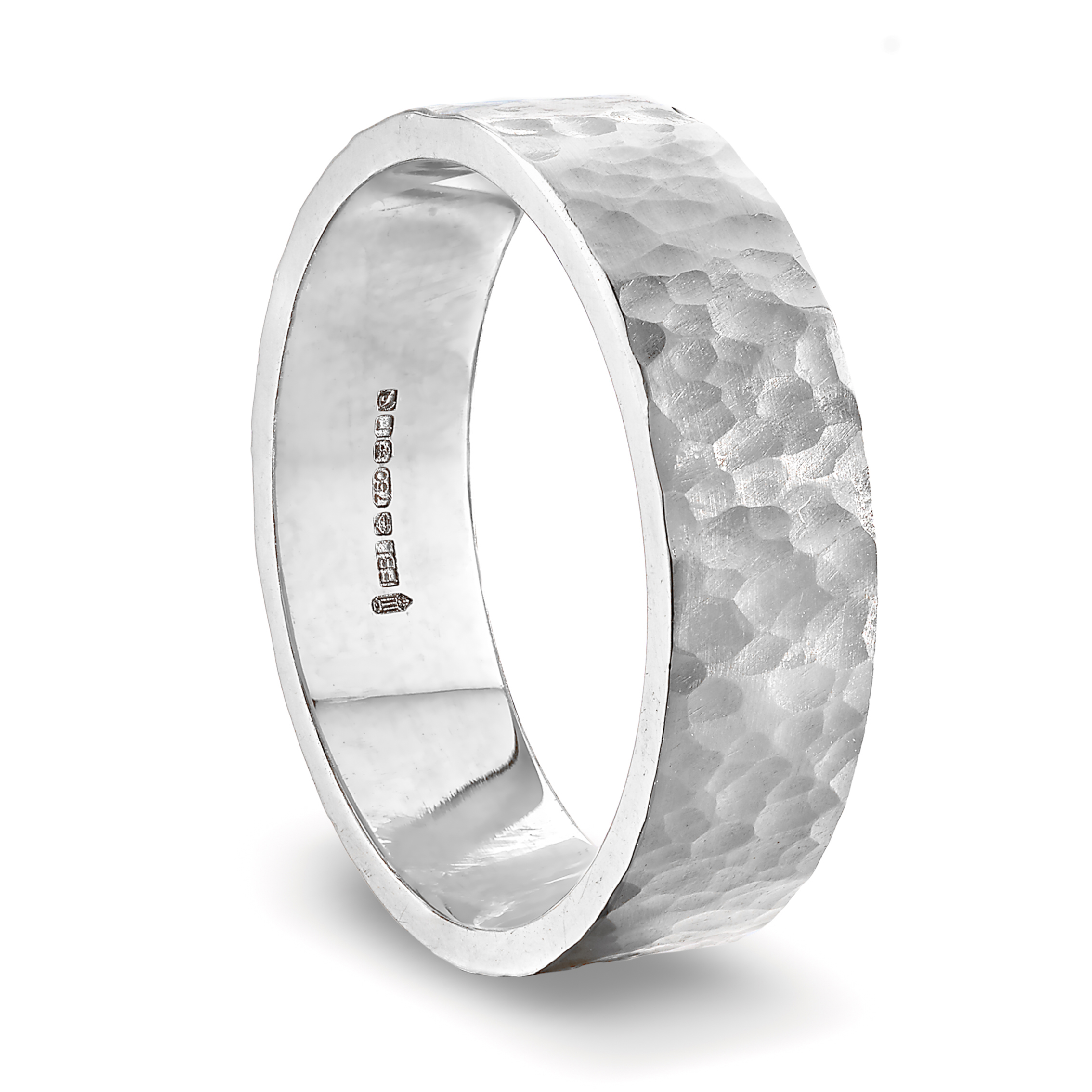 white_gold_hammered_wedding_ring_6mm